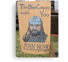 The Blue Company Canvas Print