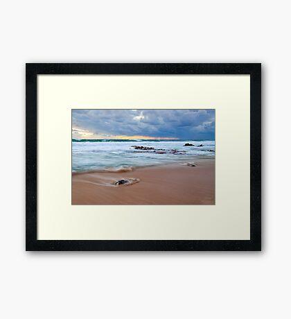 Receeding Waves at Injidup Beach Framed Print