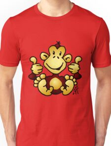 Manic Monkey with 4 thumbs up Unisex T-Shirt