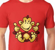 Manic Monkey with 4 thumbs up Unisex T-Shirt
