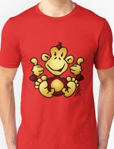 Manic Monkey with 4 thumbs up T-Shirt