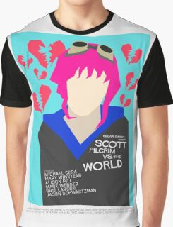 Scott Pilgrim Verses The World - Saul Bass Inspired Poster (Untextured) Graphic T-Shirt