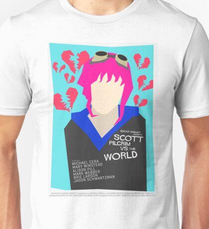 Scott Pilgrim Verses The World - Saul Bass Inspired Poster (Untextured) Unisex T-Shirt