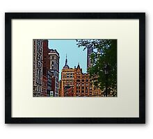 A view from Union Square - New York City Framed Print
