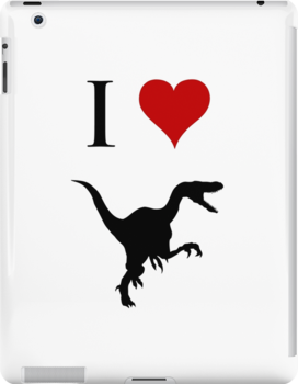 I Love Dinosaurs - Velociraptor by jezkemp