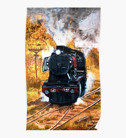 Steam Engine J541 Poster