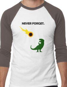 Never Forget (Dinosaurs) Men's Baseball ¾ T-Shirt