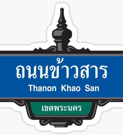 Khao San Road Sign, Bangkok, Thailand Sticker