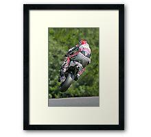 Motorbike racing . Carl ( Bomber ) Harris. Framed Print