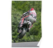 Motorbike racing . Carl ( Bomber ) Harris. Poster