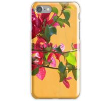 Purple Blossoms Next to a Yellow Wall iPhone Case/Skin