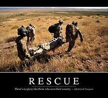 Rescue: Inspirational Quote and Motivational Poster by StocktrekImages