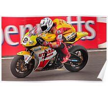 Motorbike racing .BSB   ( Guy Martin ) Poster