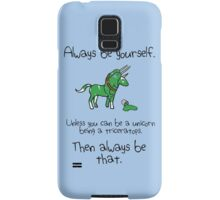 Always be a Unicorn being a Triceratops Samsung Galaxy Case/Skin