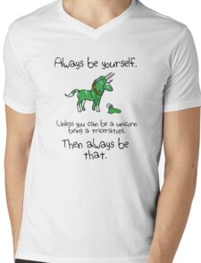 Always be a Unicorn being a Triceratops Mens V-Neck T-Shirt
