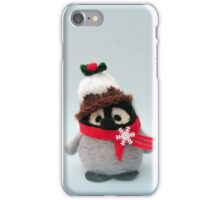 Happy Christmas - Handmade needle felted creation from Teddy Bear Orphans - Porky Penguin iPhone Case/Skin