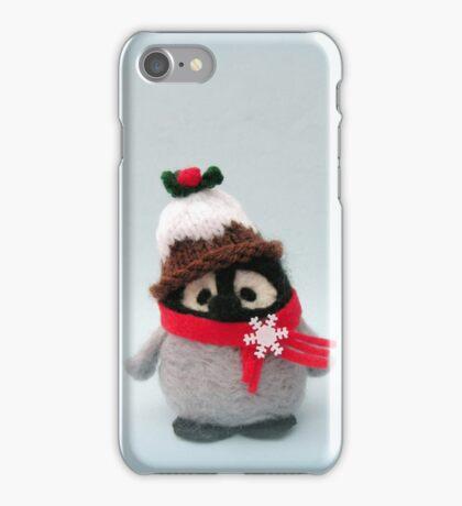 Happy Christmas - Handmade needle felted creation from Teddy Bear Orphans - Porky Penguin iPhone Case/Skin