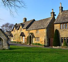 Village Green - Lower Slaughter by Michael Tapping