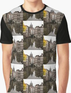 Amsterdam - Reflecting on Autumn Canal Houses Graphic T-Shirt