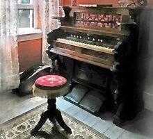 Organ With Petit Point Stool by Susan Savad