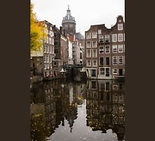 Amsterdam - Reflecting on Autumn Canal Houses Unisex T-Shirt