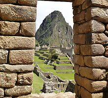 Machu Picchu and Wayna Picchu mount from the door by Daniele Iengo