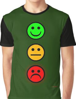 Smiley Traffic Lights - Green For Go Graphic T-Shirt