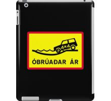 Unbridged River, Traffic Sign, Iceland iPad Case/Skin