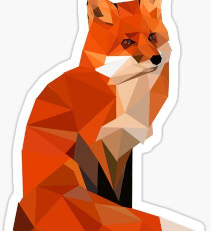 Low poly fox Sticker