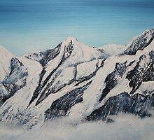 Eiger Jungfrau and Monk by Jan Vinclair