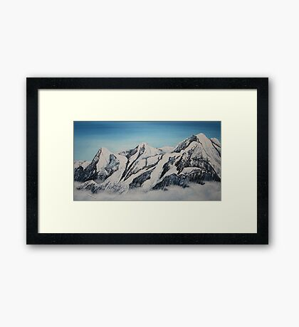 Eiger Jungfrau and Monk Framed Print