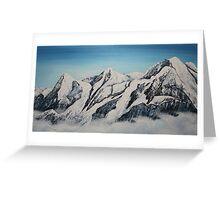 Eiger Jungfrau and Monk Greeting Card