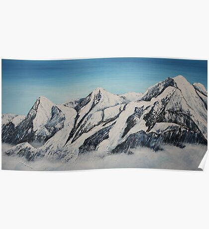 Eiger Jungfrau and Monk Poster