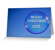 Merry Christmas Bubble Greeting Card
