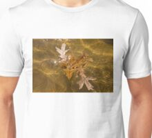 Honey Colored Sun Flares - Oak Leaves Floating in a Fountain Unisex T-Shirt
