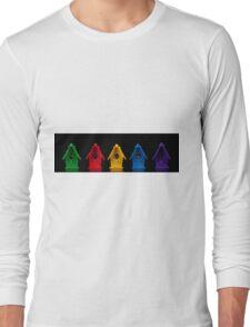 Miniature Bird Houses Panorama Long Sleeve T-Shirt