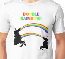 Double Rainbow Unicorn Vomit Unisex T-Shirt