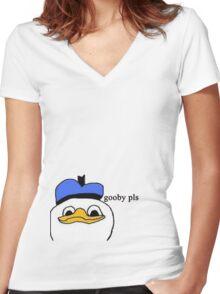 Dolan duck Women's Fitted V-Neck T-Shirt