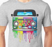 Hippie Van Dripping Rainbow Paint Unisex T-Shirt