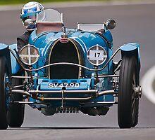 Vintage car racing. Bugatti  by Kit347
