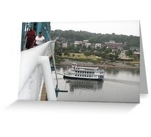 Walnut Street Bridge and souther belle Greeting Card