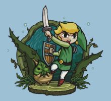 Zelda Wind Waker Forbidden Woods Temple Kids Tee