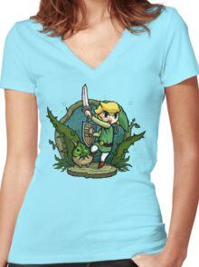 Zelda Wind Waker Forbidden Woods Temple Women's Fitted V-Neck T-Shirt
