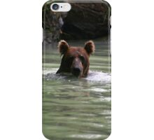 Grizzly Bear Swimming iPhone Case/Skin