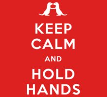 Keep Calm and Hold Hands (Otters holding hands) One Piece - Short Sleeve