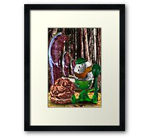 Egg Bacon Forest Creme Puff Framed Print