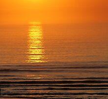 Fiery ocean by NumandisArt