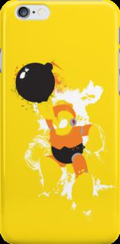 Bomb Man Explosive Splatter Design by thedailyrobot