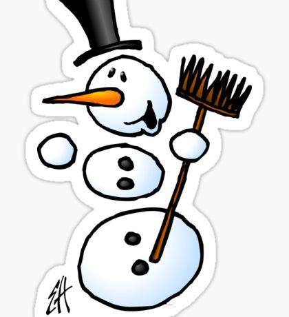 Dancing snowman Sticker