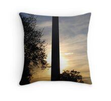 Washington Monument - Sunset Throw Pillow